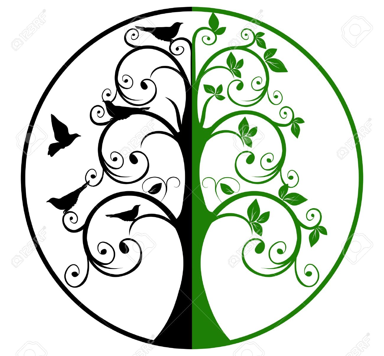 tree of life and death royalty free cliparts vectors and stock