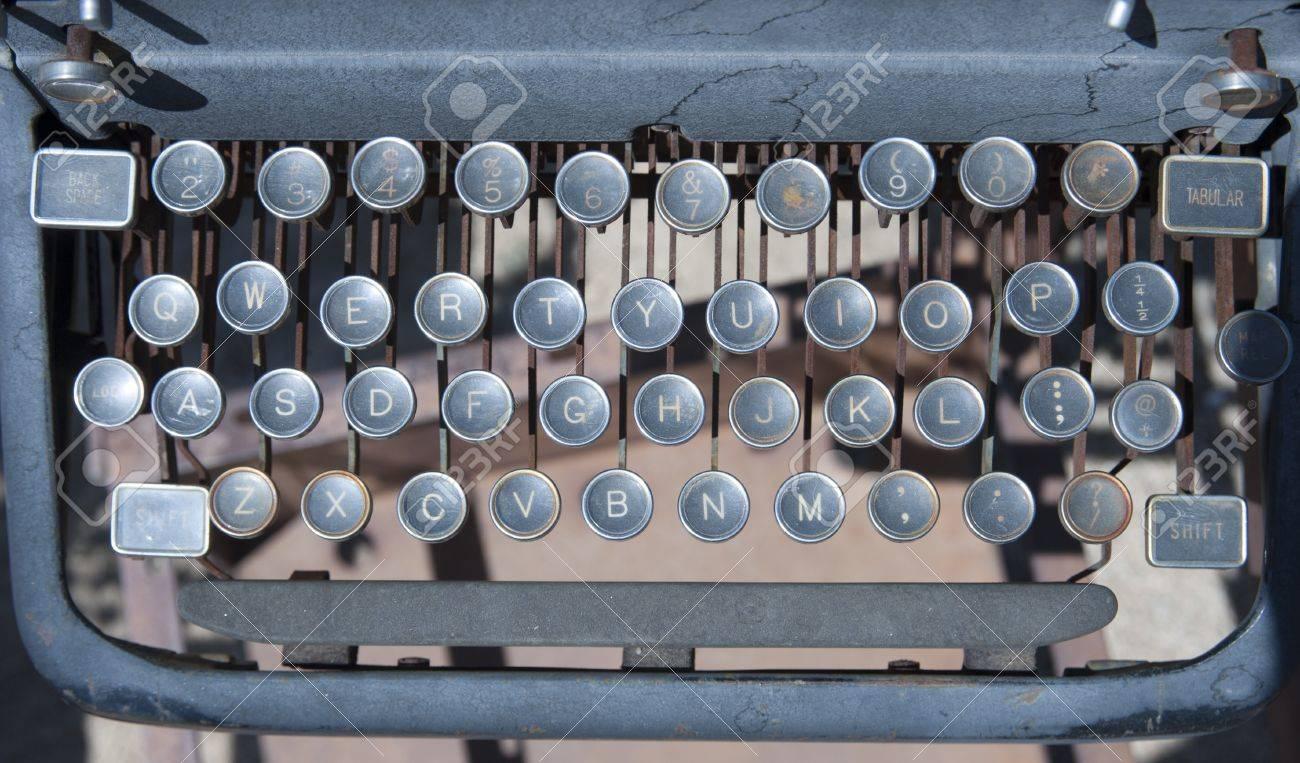 Old vintage style typewriter keyboard Stock Photo - 20452310