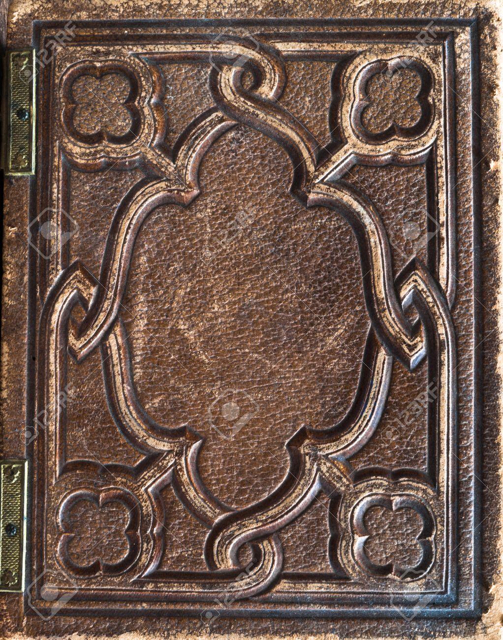 Vieux Millesime Cuir Antiquaire Couverture Du Livre De Fond