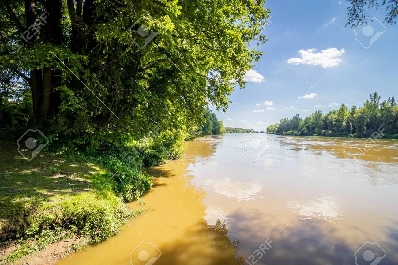 River Drava in Danube-Drava National Park (Danube-Drava National Park), Hungary - 157086980
