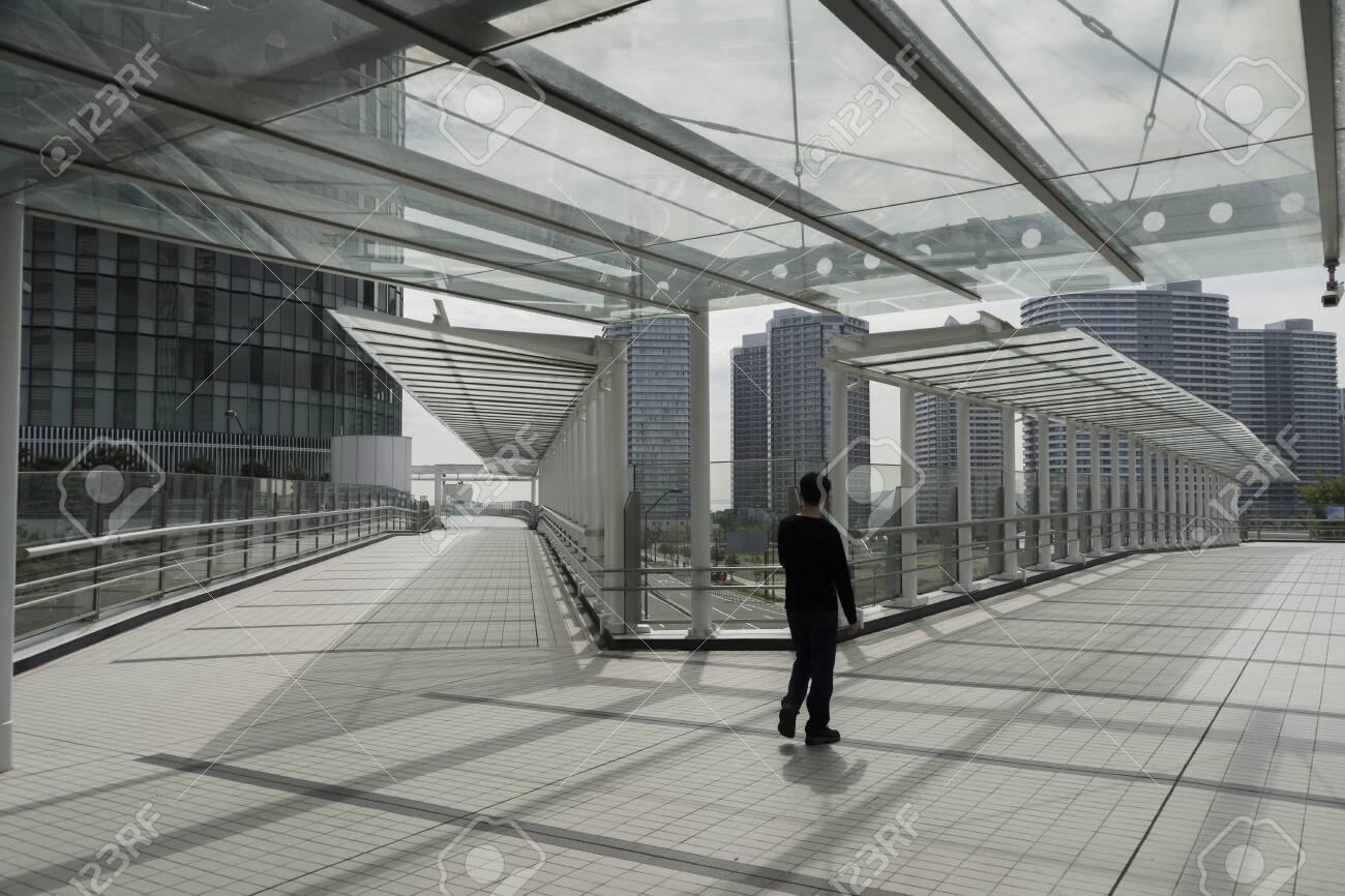 Transparent roofed corridors - 122141568