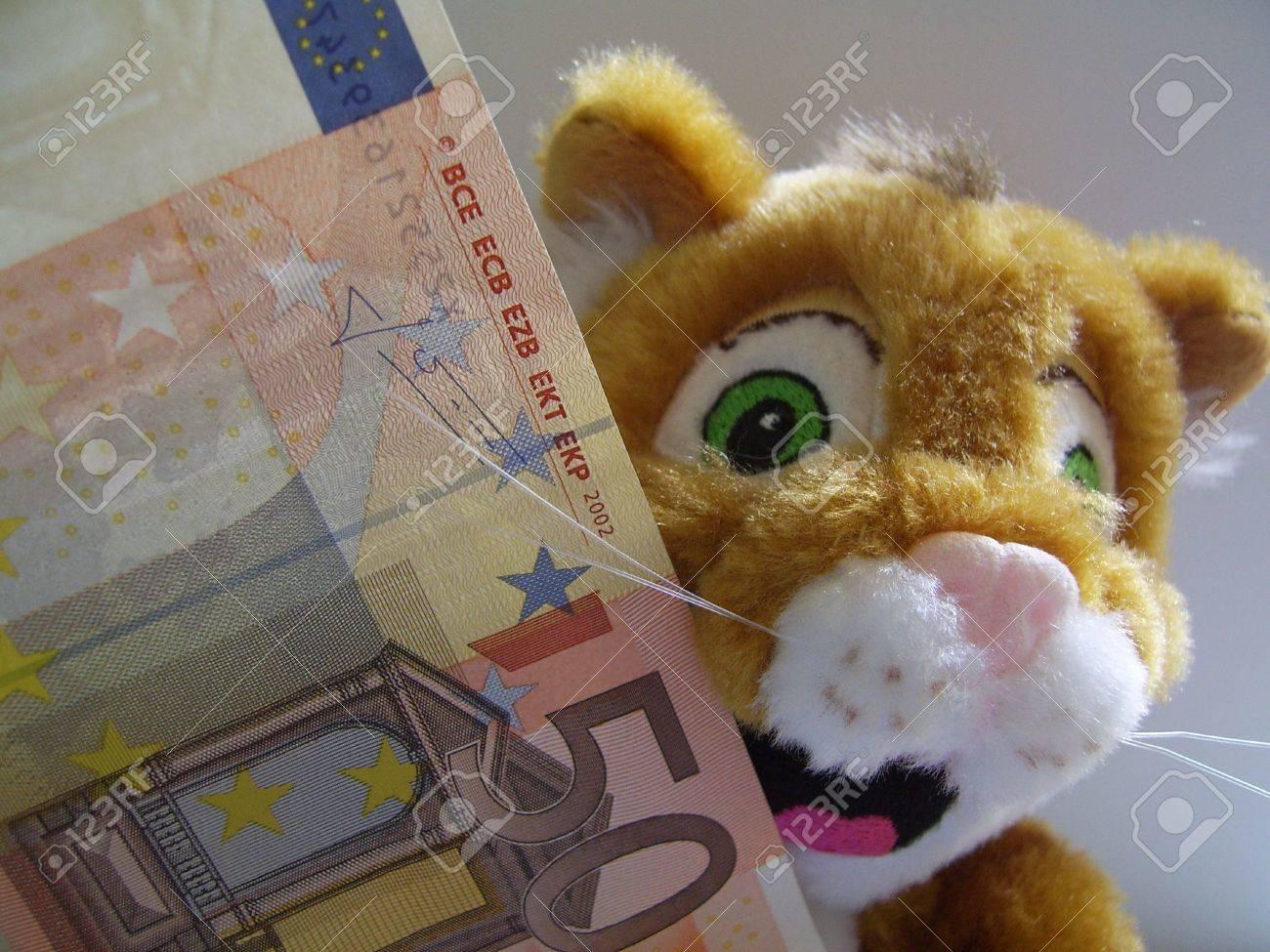 cat with money Stock Photo - 574468
