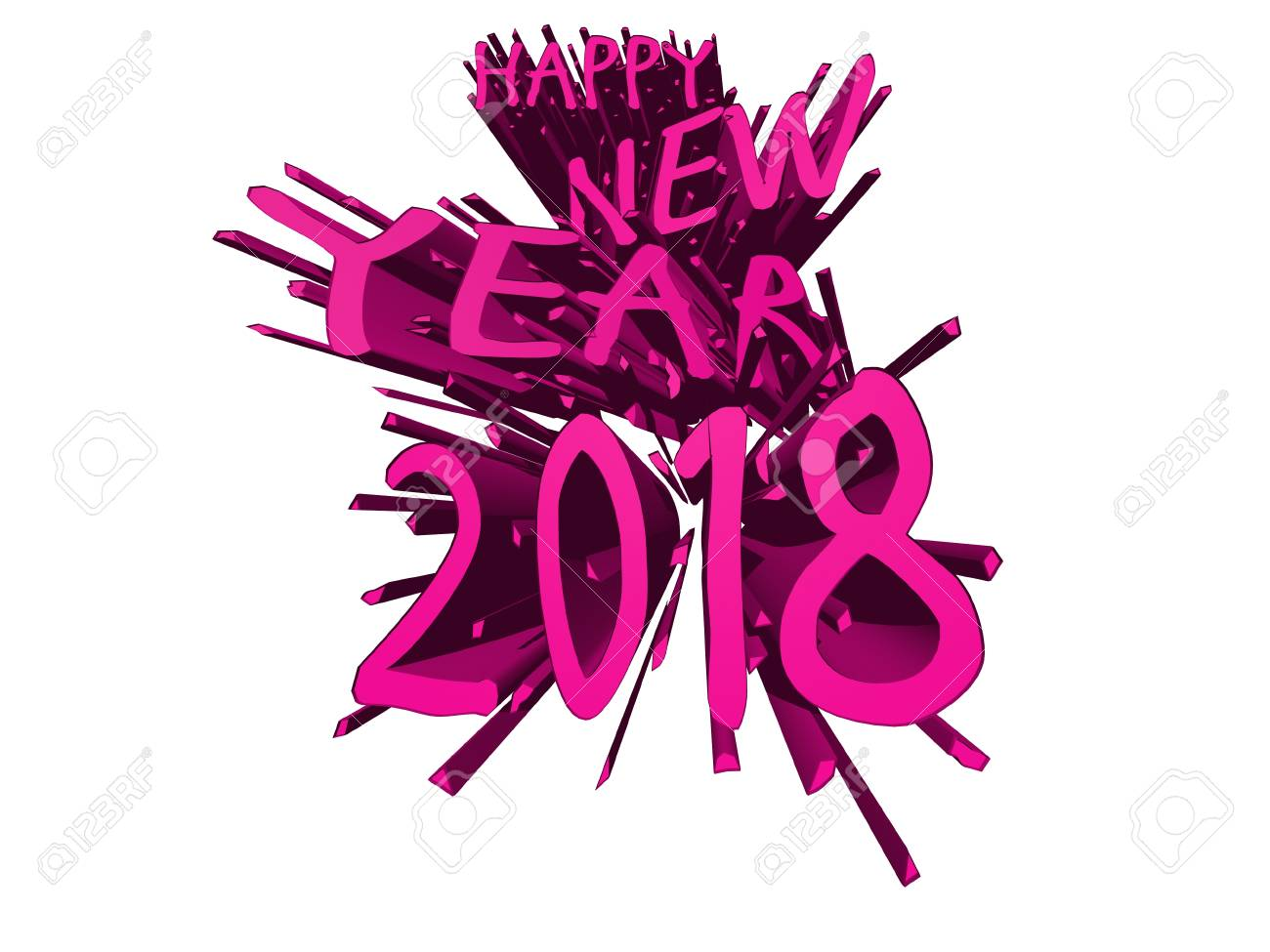 happy new year 2018 pink explosion stock photo 87997166
