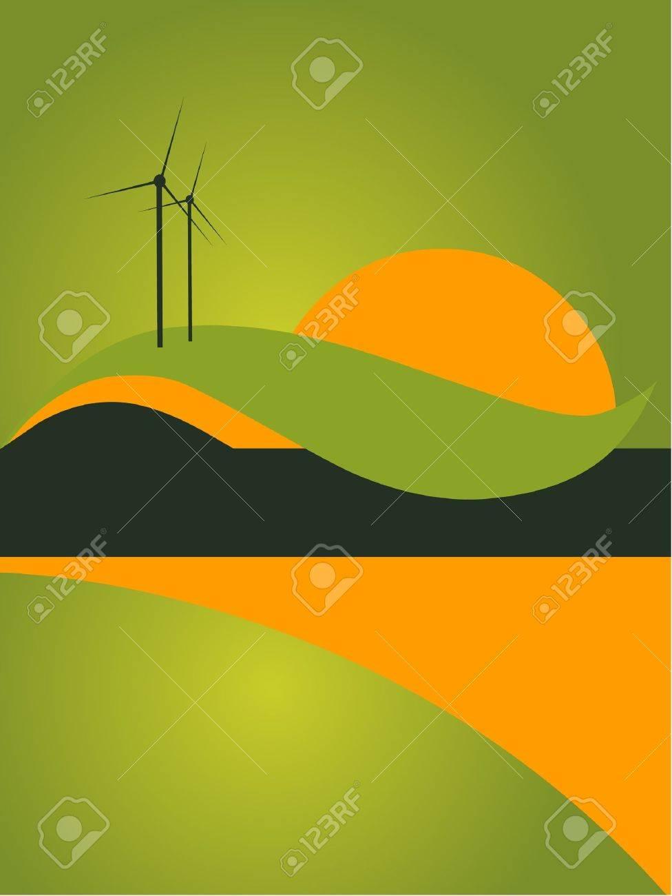 landscape catalog flyer background Stock Vector - 11187720