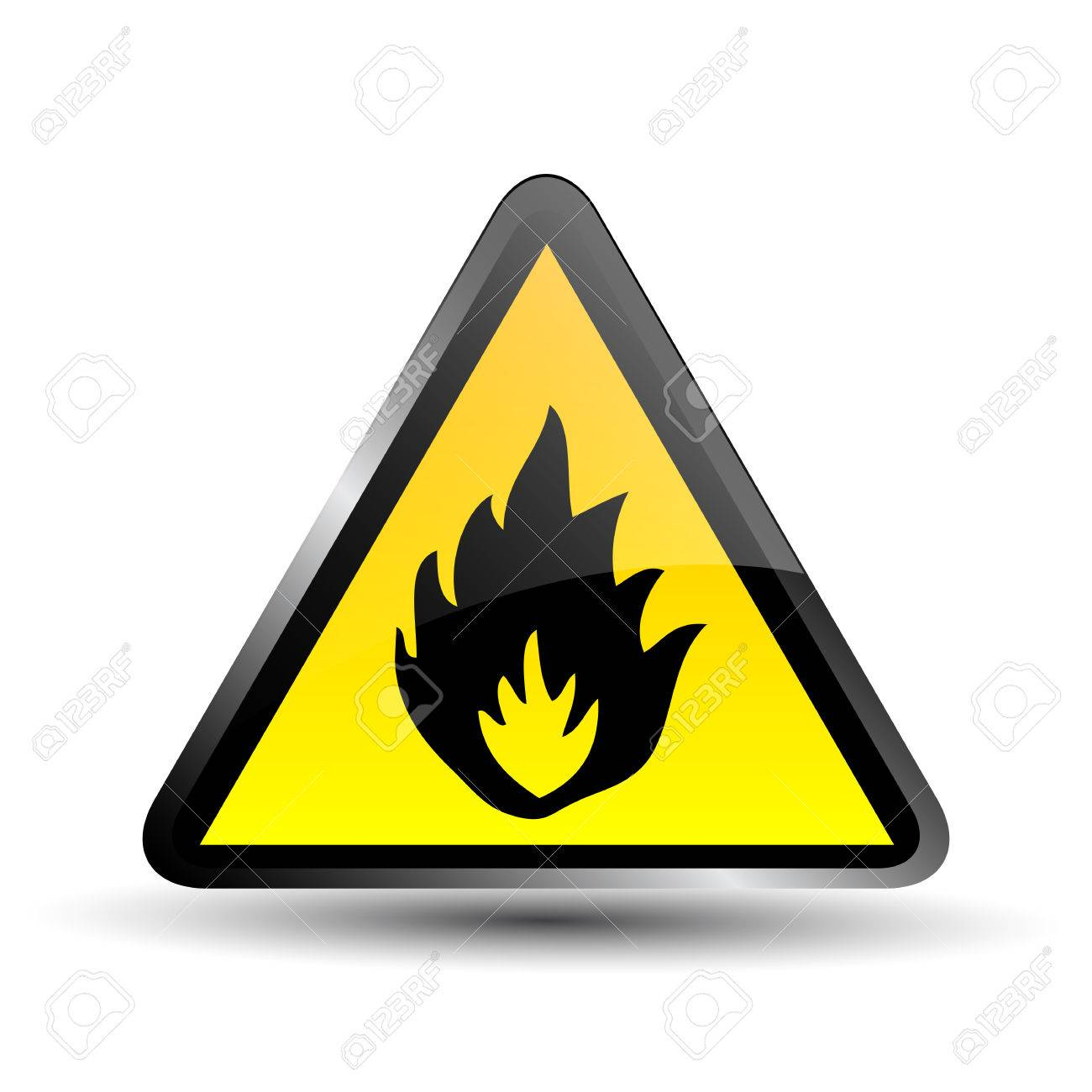 Flammable sign Stock Vector - 27438881
