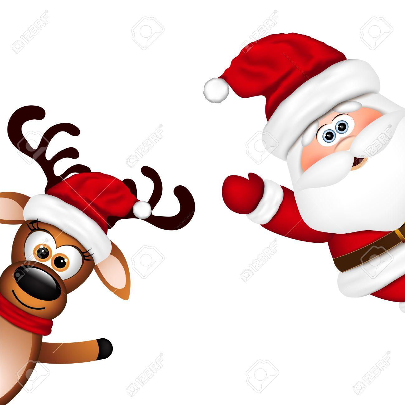 16,540 Santas Reindeer Stock Vector Illustration And Royalty Free ...
