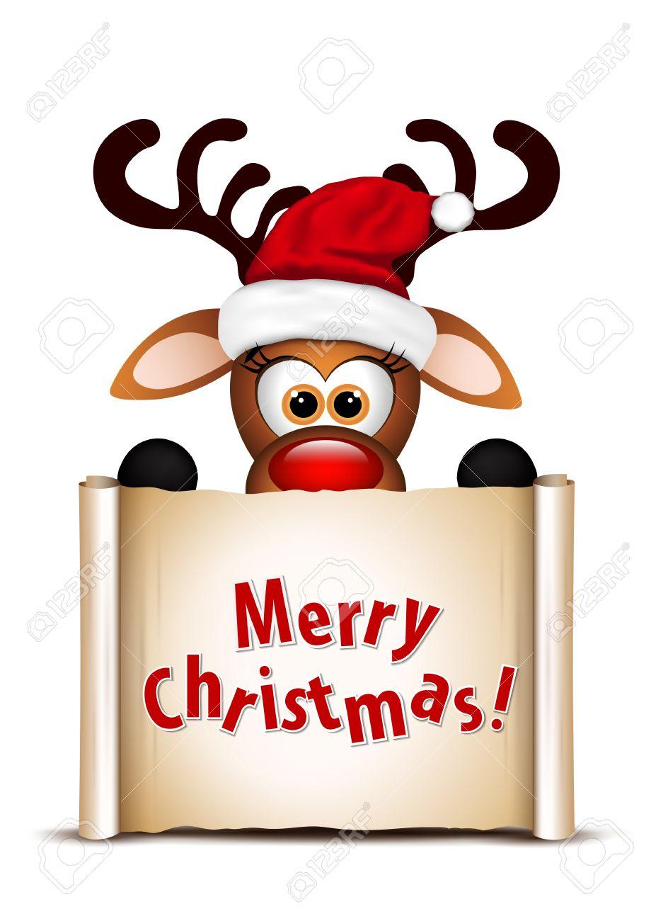 Funny Christmas Pics.Funny Christmas Reindeer Christmas Card Design Template Vector
