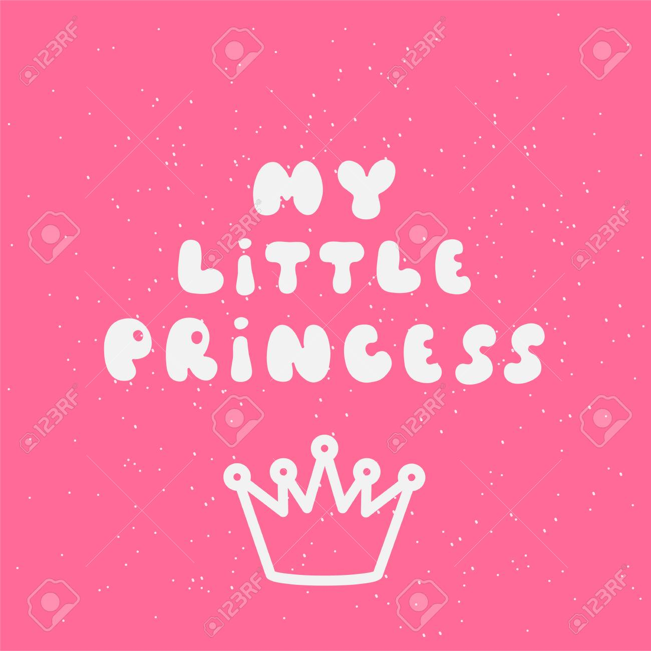 My little princess calligraphic inscription for invitation greeting my little princess calligraphic inscription for invitation greeting cards or congratulation hand drawn elements m4hsunfo