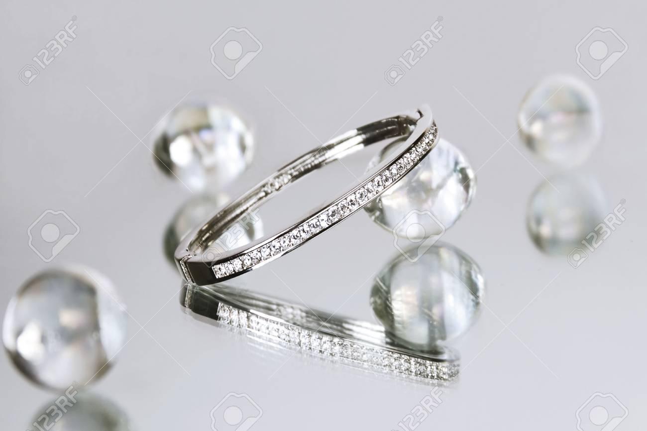 Diamond bracelet among glass beads Stock Photo - 1840102
