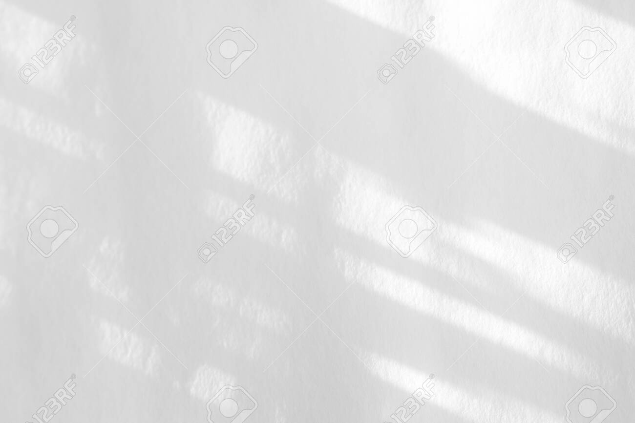 Organic drop diagonal shadow on a white wall, overlay effect for photo and mockups - 132569432