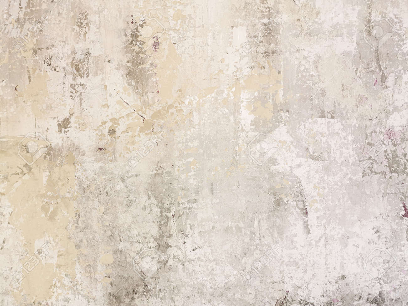 Beige low contrast scratched smooth decorative plaster concrete textured background. Abstract soft neutral antique artistic backdrop texture to your concept or product - 149894850