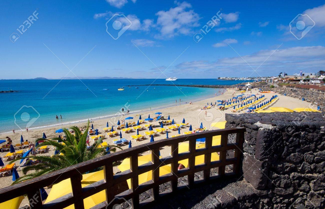 The Playa Blanca beach Lanzarote island - 18955919