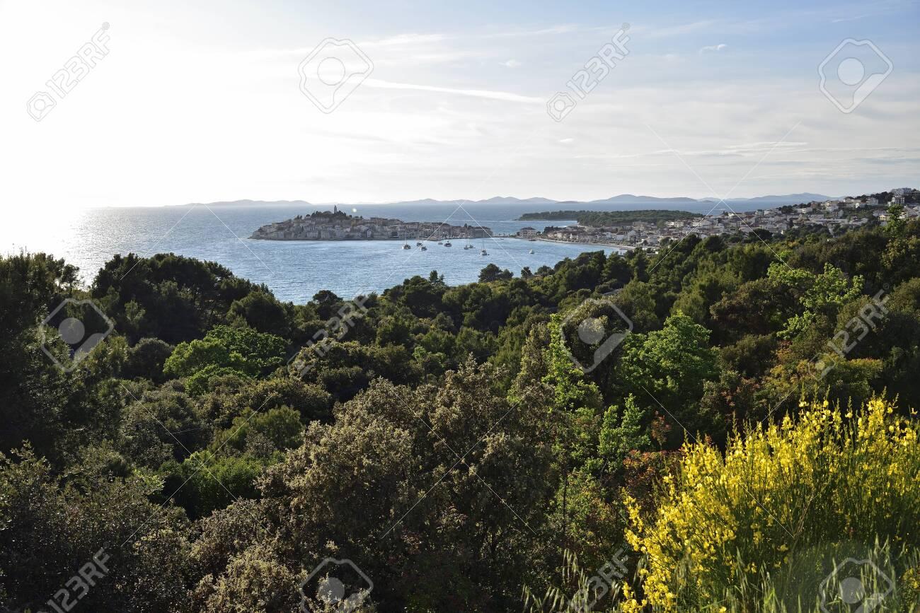 View of primosten town coastline, croatia - 145079692