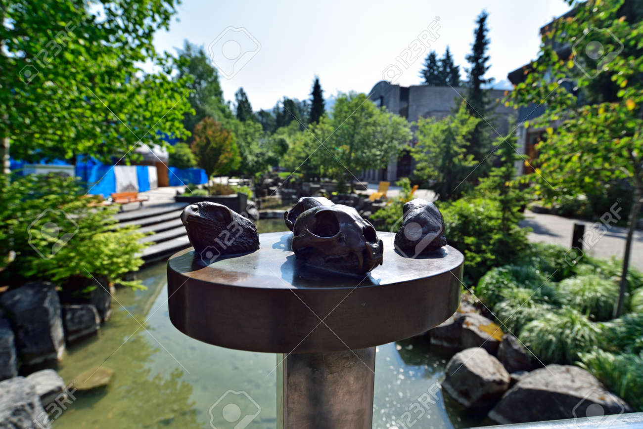 WHISTLER, BC, CANADA, MAY 30, 2019: The Whistler - Canadian Ski Resort town approximately 125 kilometers north of Vancouver - 160784274
