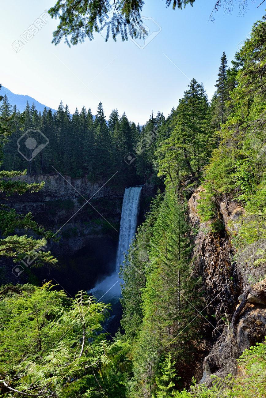 The Spectacular Brandywine Falls near Whistler, British Columbia, Canada. - 160995820