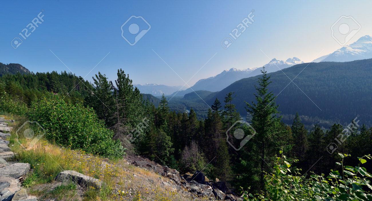 The Coastal Mountains in British Columbia. Canada - 160995823