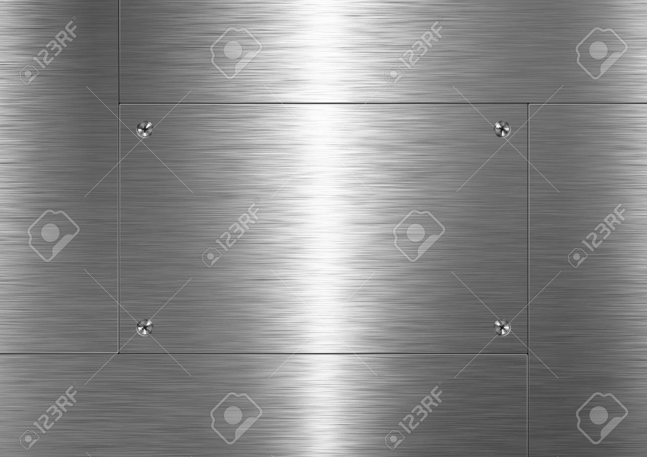 Background is made of brushed metal plate Stock Photo - 6853267