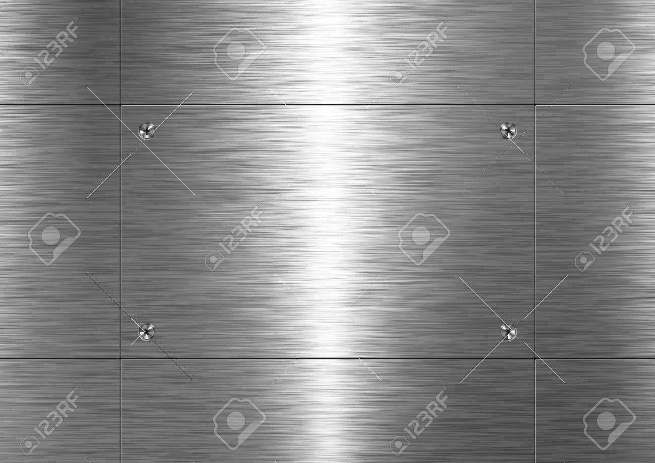 Background is made of brushed metal plate Stock Photo - 7869547