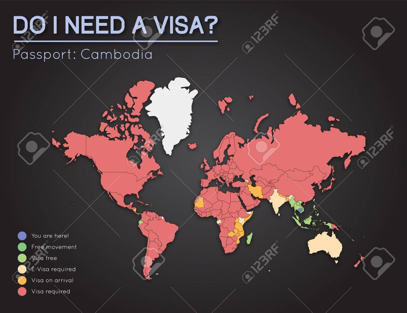 Visas Information For Kingdom Of Cambodia Passport Holders. Year ...