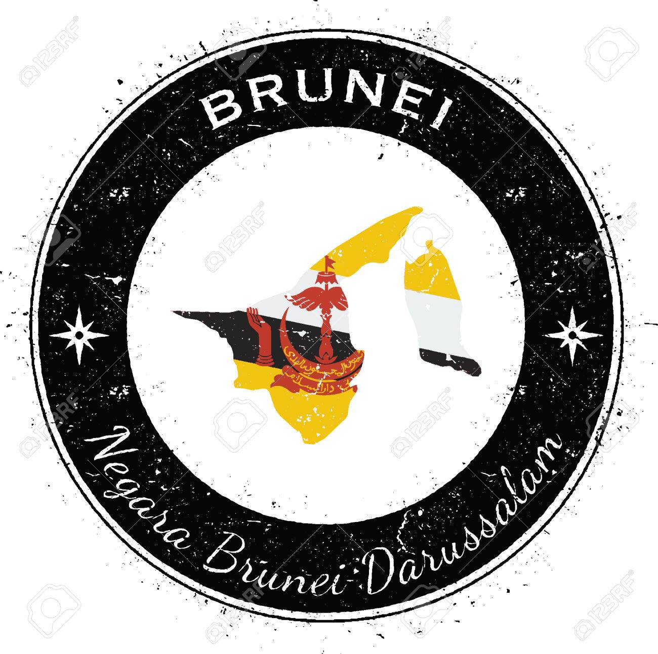 Ecusson patch badge imprime drapeau BRU brunei