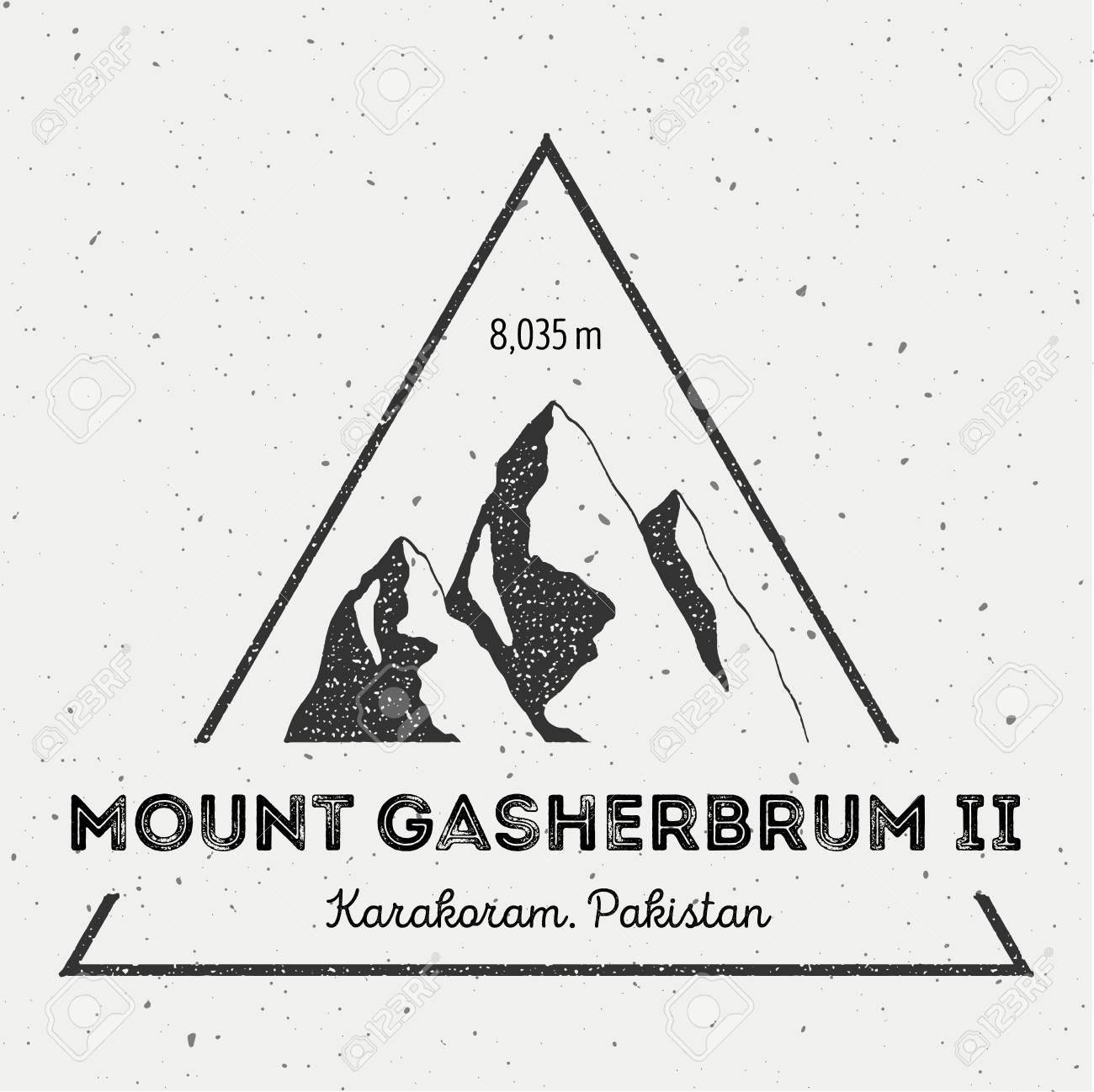 ガッシャーブルム II 峰カラコルム、パキスタンの屋外の冒険のロゴ ...