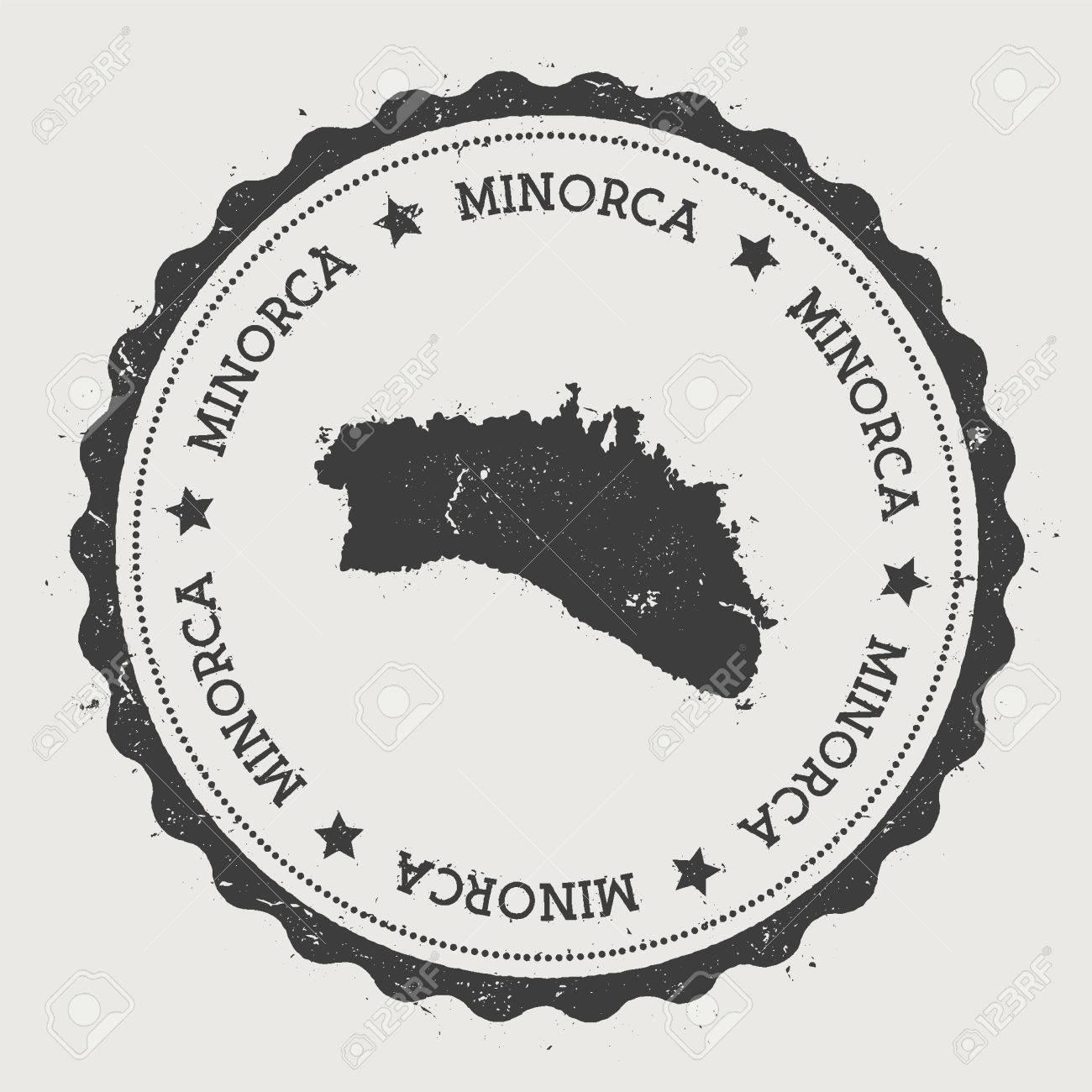 Insel Menorca Karte.Stock Photo