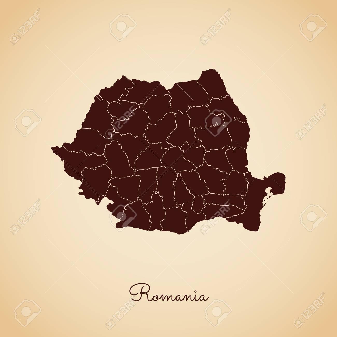 Cartina Dettagliata Romania.Vettoriale Mappa Della Regione Di Romania Contorno Stile Retro Marrone Su Sfondo Di Carta Vecchia Mappa Dettagliata Delle Regioni Della Romania Illustrazione Vettoriale Image 84276615