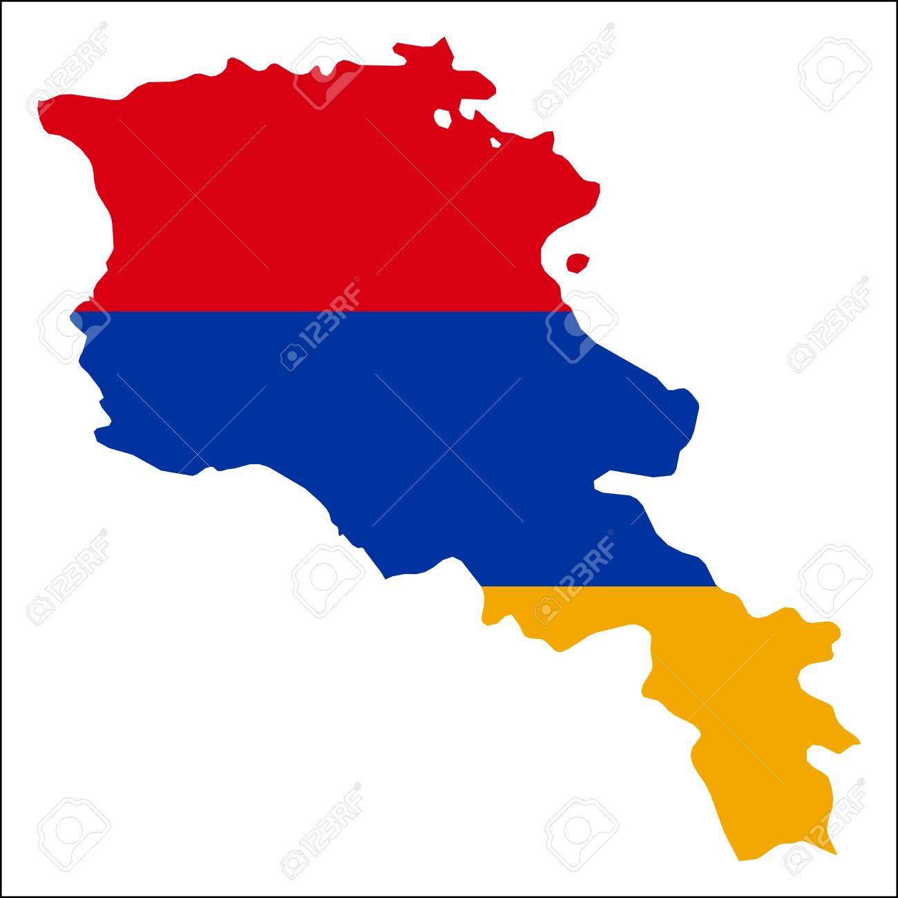 Armenien Karte.Stock Photo