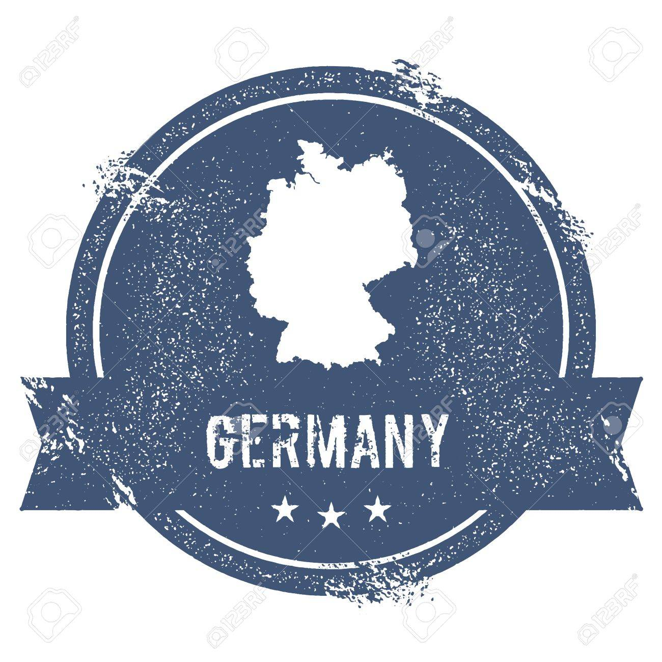Germany Mark Travel Rubber Stamp With The Name And Map Of Germany - World map to mark travels