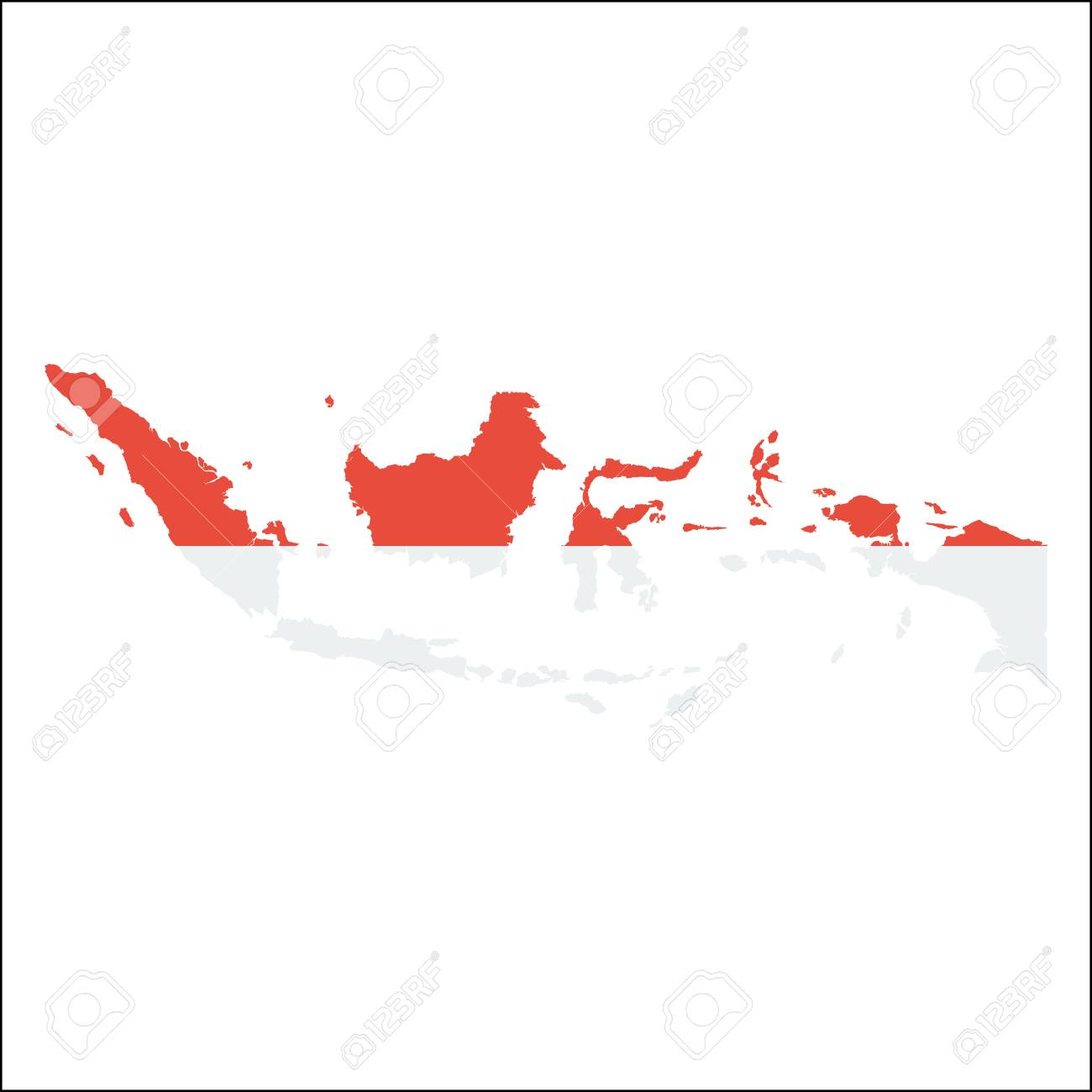Picture of: Indonesia High Resolution Map With National Flag Flag Of The Royalty Free Cliparts Vectors And Stock Illustration Image 87710231