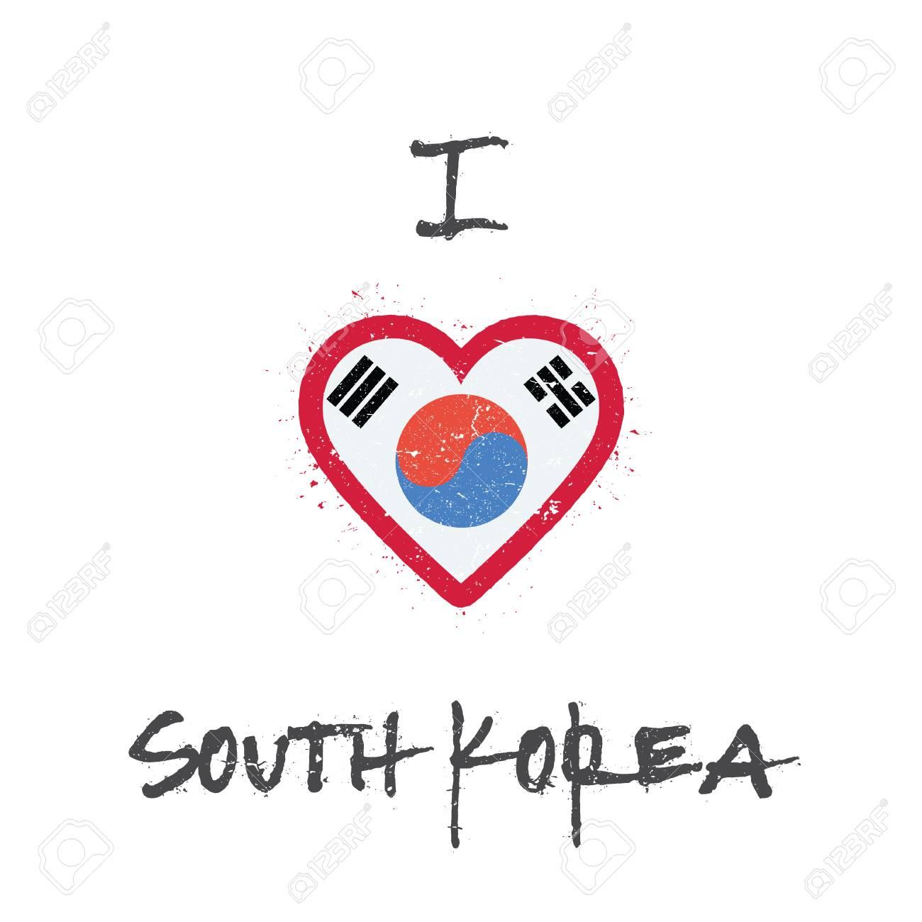 i love korea republic of t shirt design south korean flag in