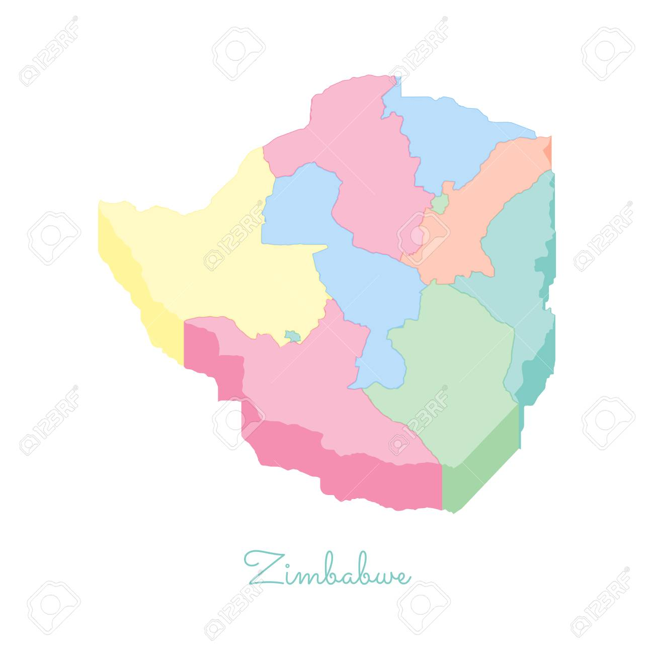 Zimbabwe region map: colorful isometric top view. Detailed map.. on malaysia regions map, finland regions map, afghanistan regions map, moldova regions map, nicaragua regions map, el salvador regions map, zimbabwe resources, uk regions map, cameroon regions map, united states of america regions map, africa regions map, hungary regions map, bahrain regions map, uganda regions map, mozambique regions map, armenia regions map, latvia regions map, venezuela regions map, guinea regions map, central african republic regions map,