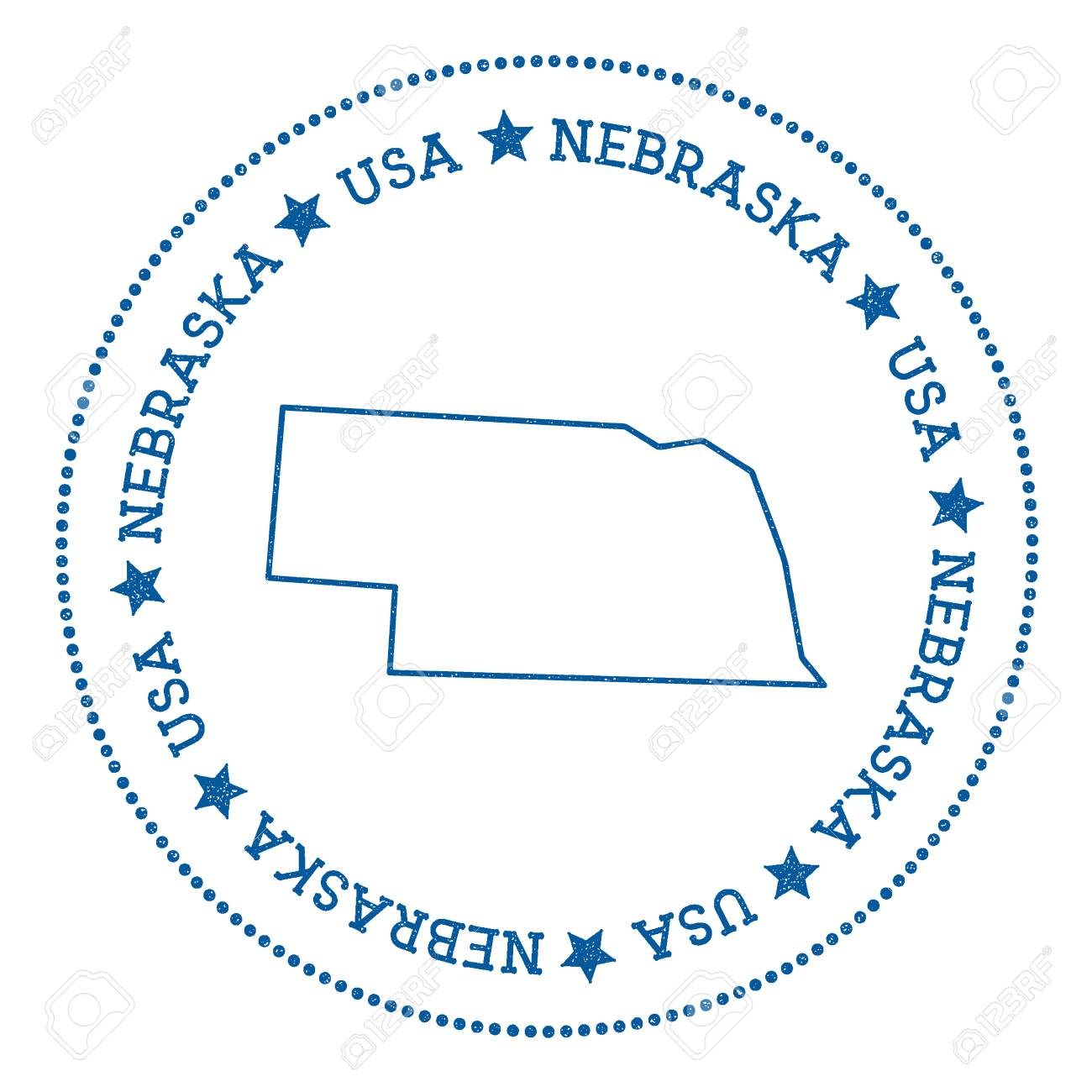 Free Nebraska Map.Nebraska Vector Map Sticker Hipster And Retro Style Badge With