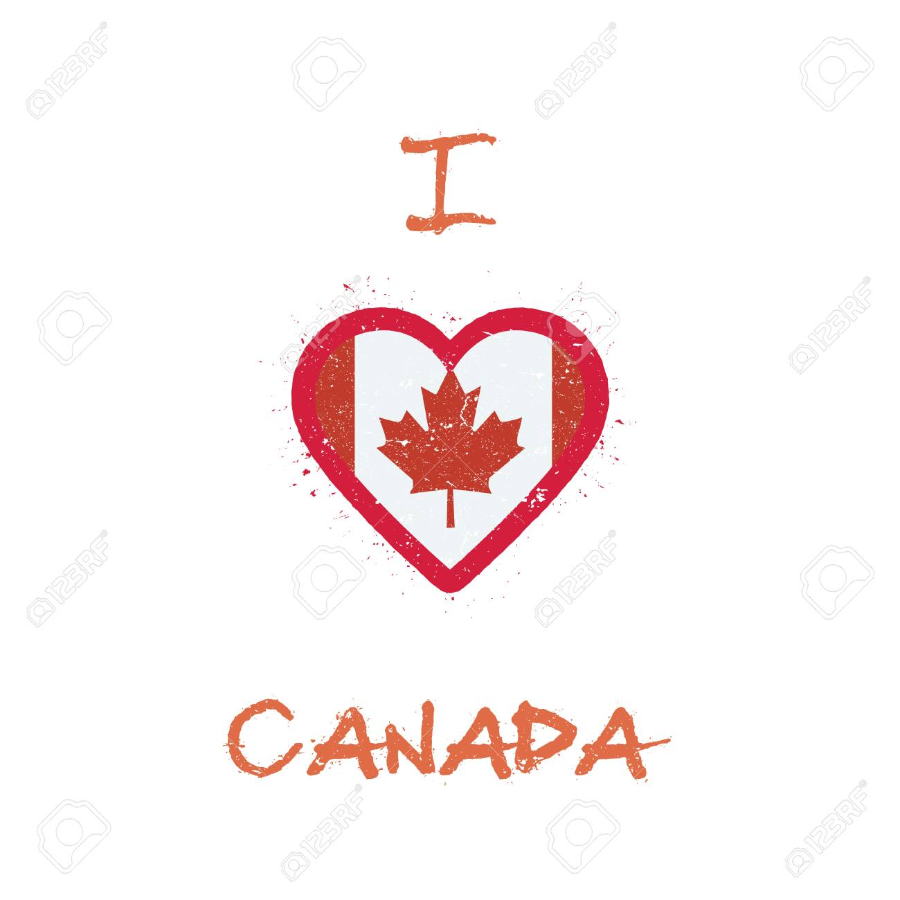 e59906262 I Love Canada T-shirt Design. Canadian Flag In The Shape Of Heart ...