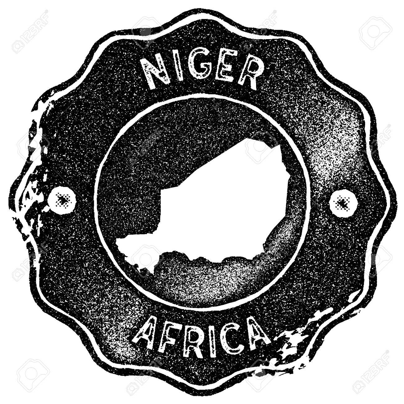 niger map vintage st retro style handmade label badge or Niger Map Zone niger map vintage st retro style handmade label badge or element for travel souvenirs