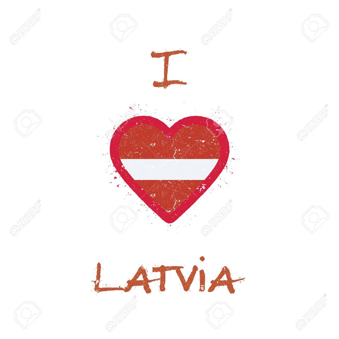 I Love Latvia T Shirt Design Latvian Flag In The Shape Of Heart