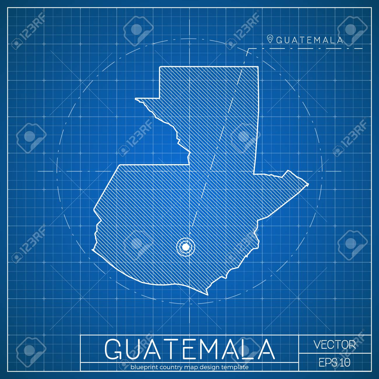 Picture of: Guatemala Blueprint Map Template With Capital City Guatemala Royalty Free Cliparts Vectors And Stock Illustration Image 100311289