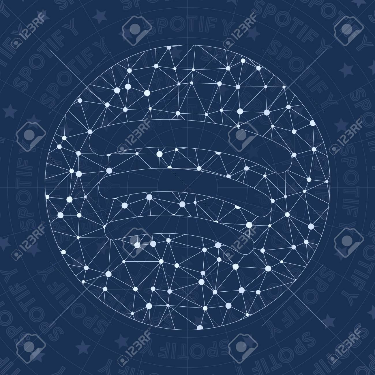 Spotify Network Symbol Amusing Constellation Style Symbol