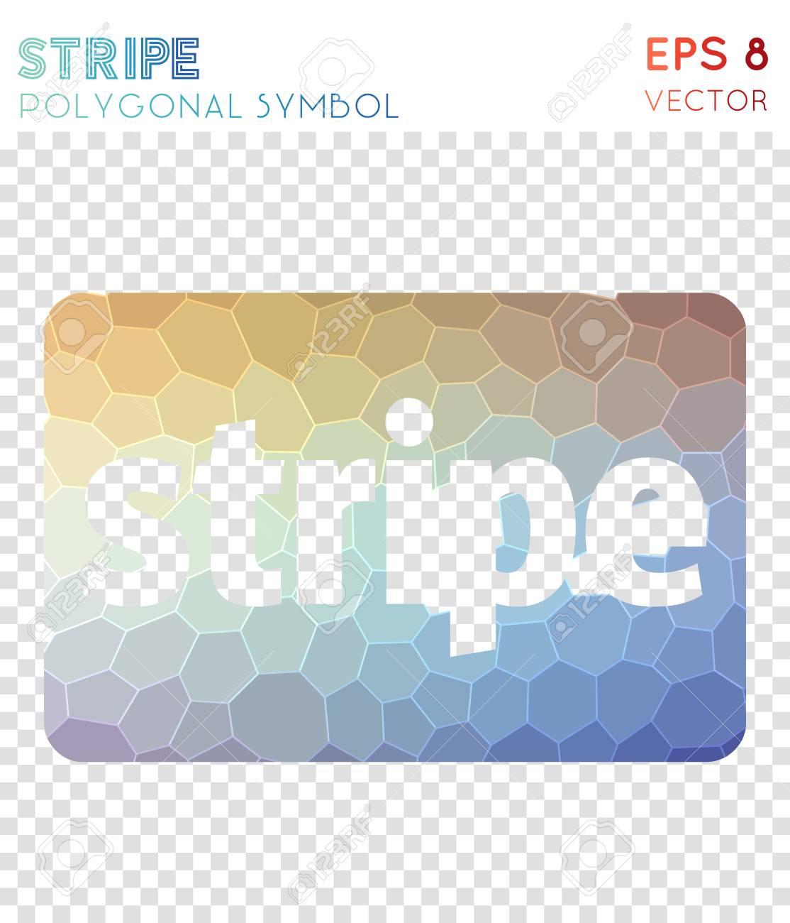Cc stripe polygonal symbol  Adorable mosaic style symbol  Energetic