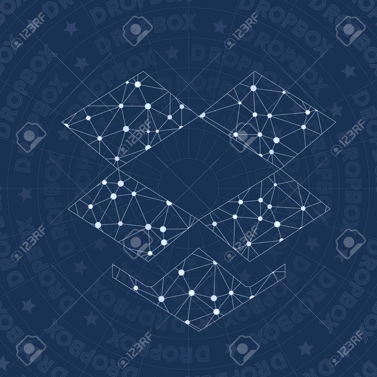 Dropbox Network Symbol Alive Constellation Style Symbol Royalty