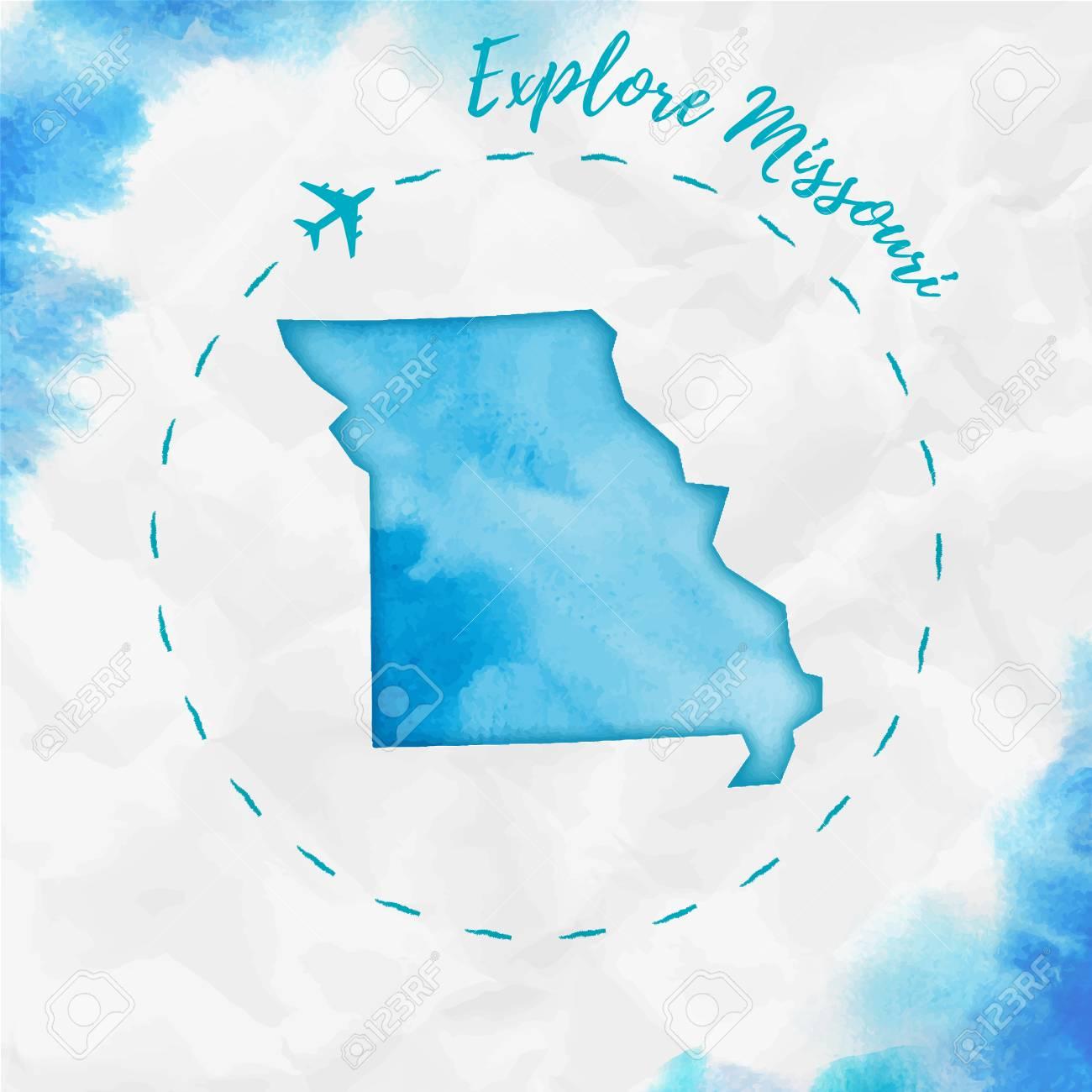 Missouri Us State Map In Turquoise Colors Explore Missouri