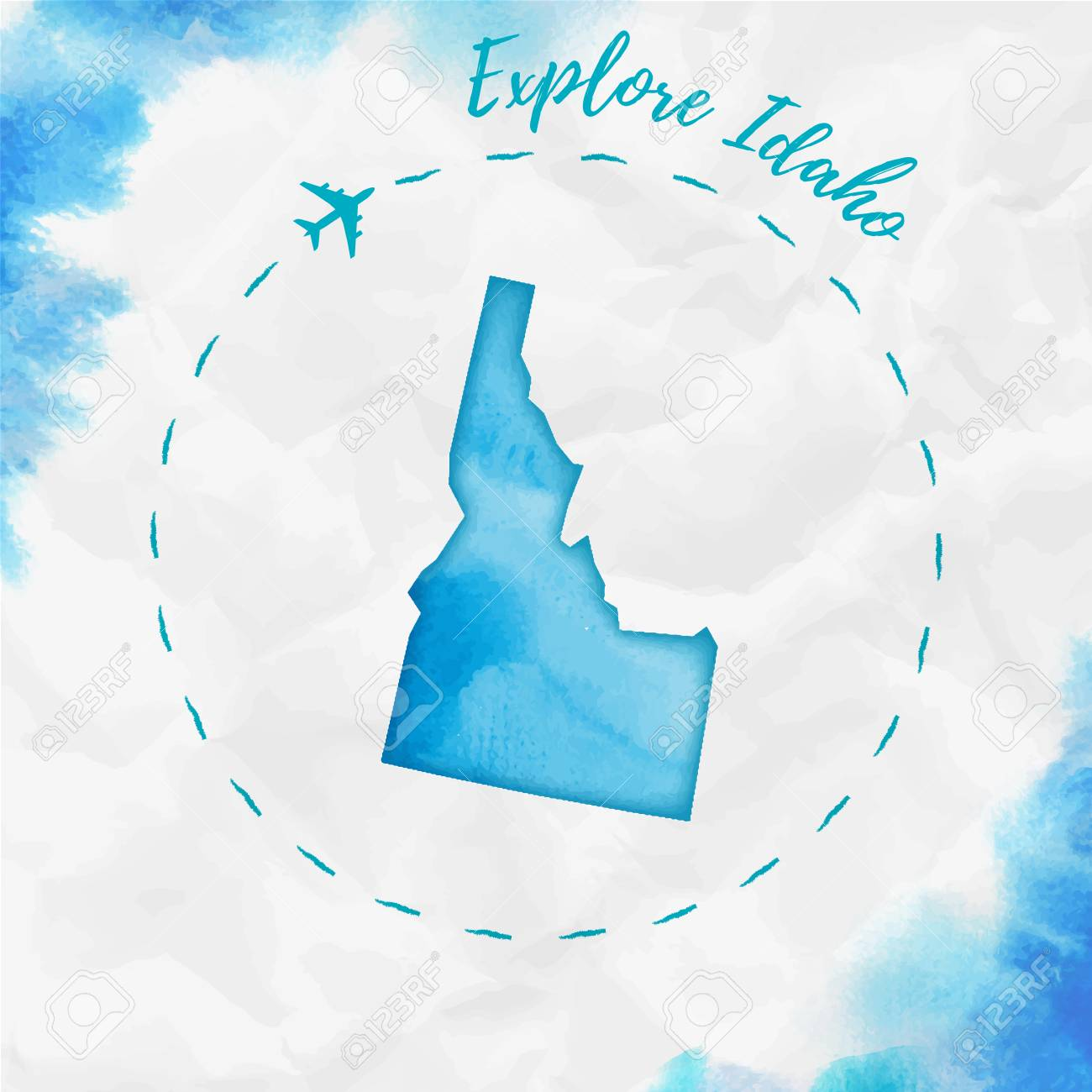 Idaho watercolor us state map in turquoise colors. Explore Idaho.. on idaho road map, idaho on the map, idaho in the us, simple idaho map, idaho outline, mountain home idaho street map, chicago u.s. map, rocky mountains in idaho map, lower treasure valley idaho map, idaho politics, idaho on world map, idaho department of water resources, idaho department of natural resources, northern utah idaho map, northeastern idaho map, idaho usa, idaho tourism, star idaho on map, idaho known for, idaho on a map,