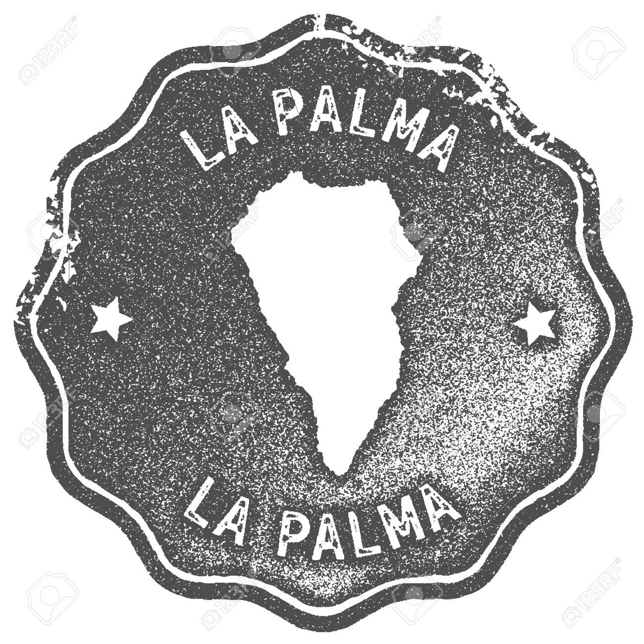 La Palma Map Vintage Stamp. Retro Style Handmade Label, Badge ...