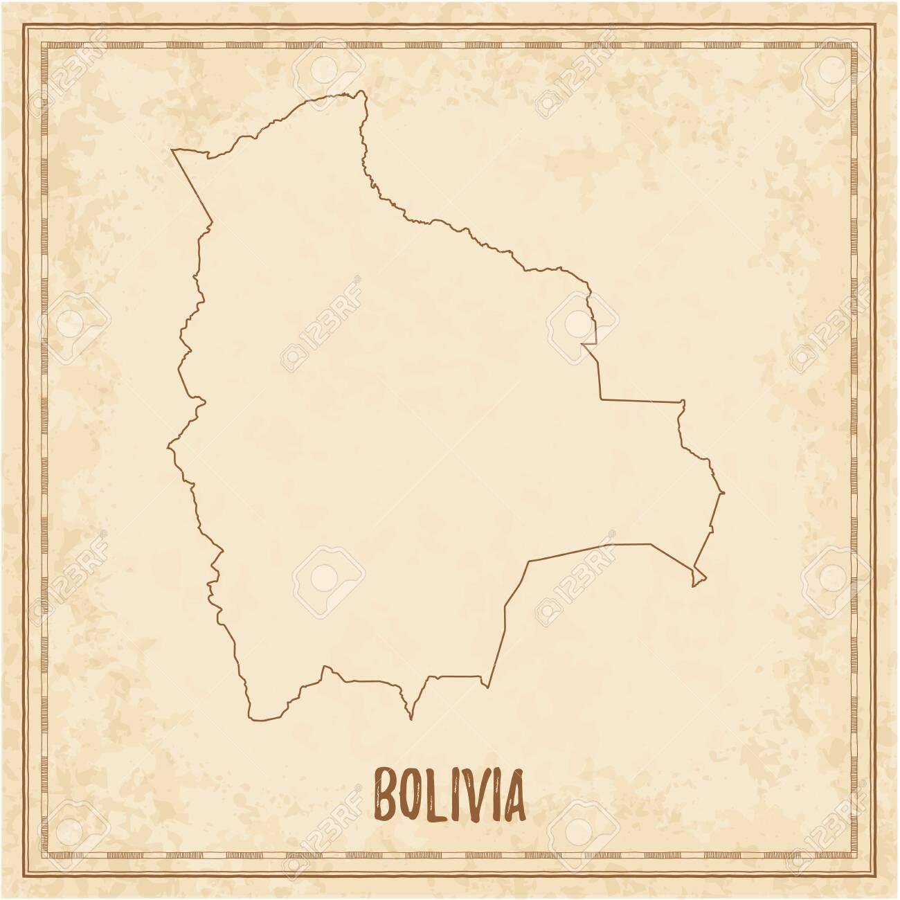 Picture of: Pirate Map Of Bolivia Blank Vector Map Of The Country Vector Illustration Ilustraciones Vectoriales Clip Art Vectorizado Libre De Derechos Image 129542492