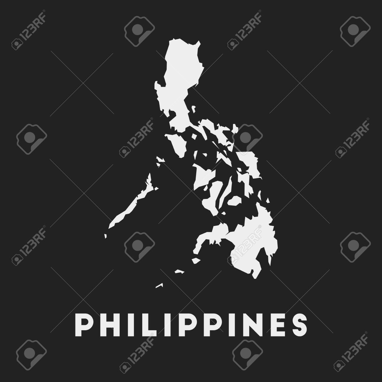 Philippines Icon Country Map On Dark Background Stylish Philippines Royalty Free Cliparts Vectors And Stock Illustration Image 136688301