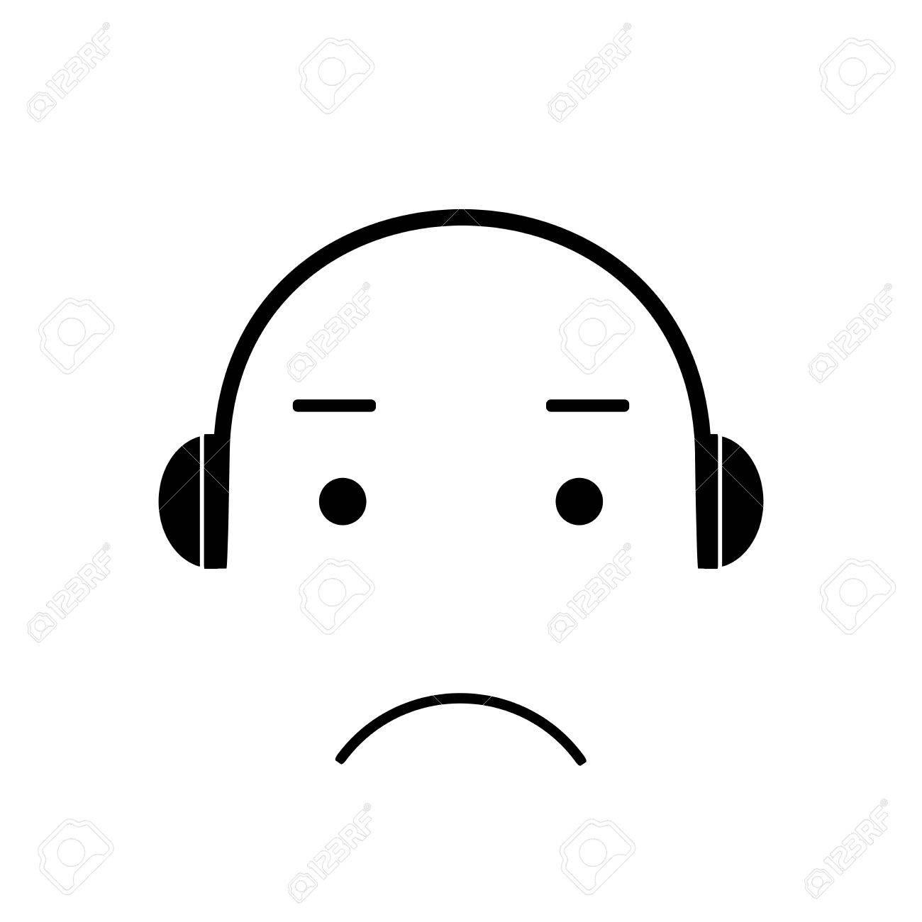 Emoji Icone Mauvaise Musique Visage Emoji Melomane Ecoute De La Musique Avec Un Casque Emoticones Illustration Vectorielle Musique Icone Vecteur De Musique Clip Art Libres De Droits Vecteurs Et Illustration Image 55126354