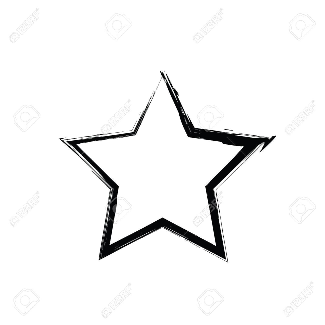 free star vector  Grunge Star Vector. Five-pointed Star. Vector Star Symbol. The ...