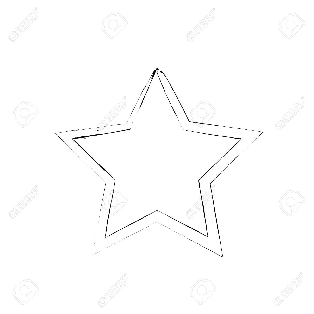 Grunge-Sterne-Vektor. Fünfzackigen Stern. Vector Stern-Symbol. Die ...