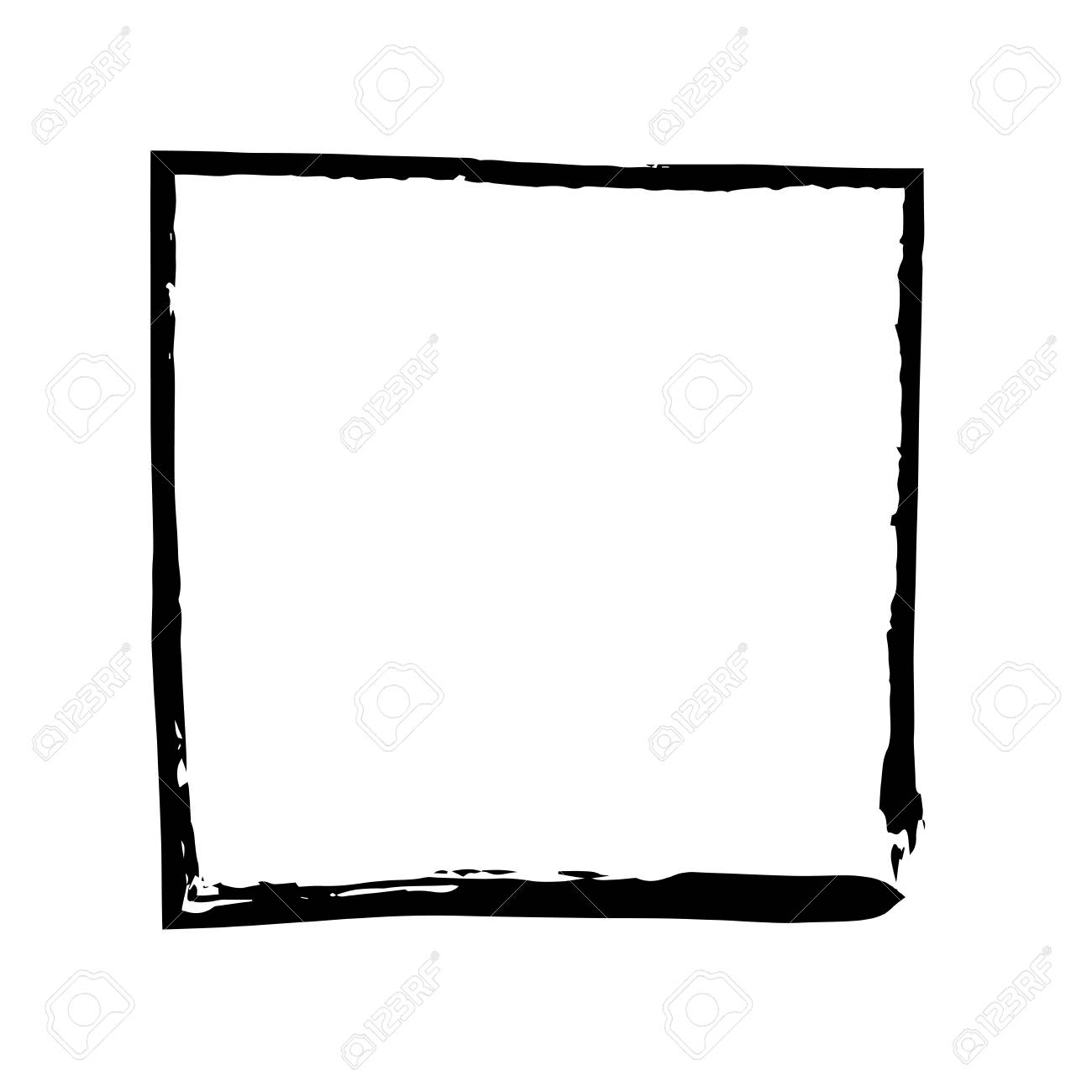 Square Frame Brush Vector Grunge Paint Watercolour Ink Vector