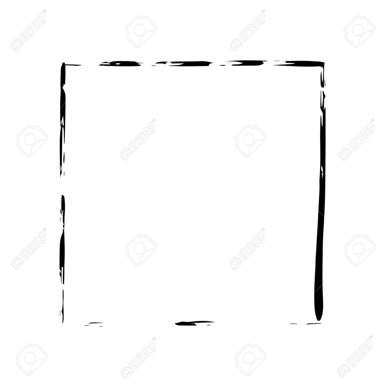 Quadratische Rahmenbürstenvektor-Schmutzfarben-Aquarelltinte. Vektor ...